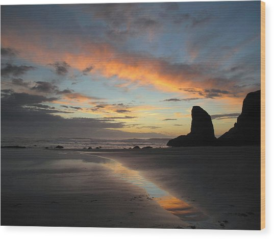 Bandon Beach Beauty Wood Print