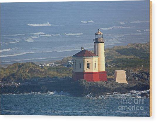 Bandon Lighthouse Wood Print