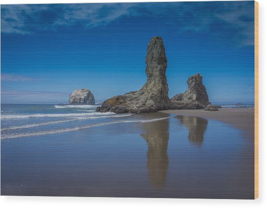 Bandon Oregon Sea Stacks Wood Print