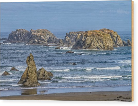 Bandon Beach Landscape Wood Print