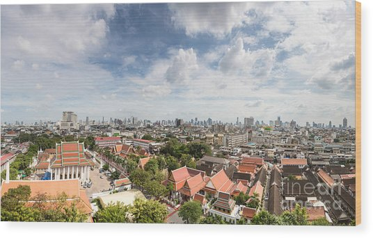 Bangkok Panorama Wood Print