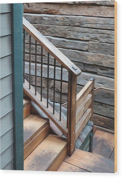 Banister Wood Print by Don Barnes