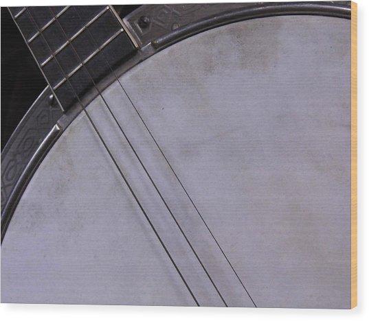 Banjo Abstract Wood Print by Kay Sparks