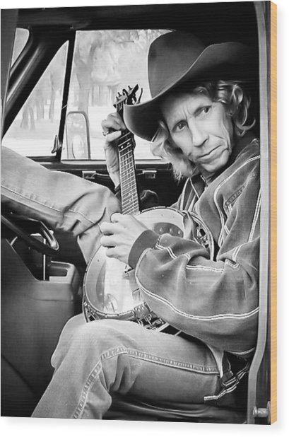 Banjo Man Wood Print