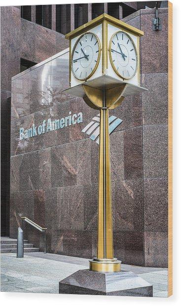 Bank Of American Building In Boston Wood Print