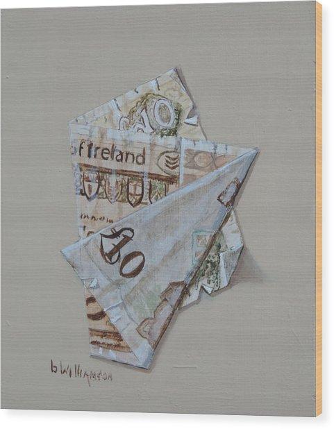 Bank Of Ireland Ten Pound Banknote Wood Print