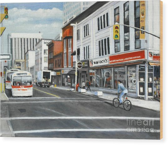 Bank Street Ottawa Wood Print