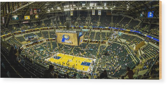 Bankers Life Fieldhouse - Home Of The Indiana Pacers Wood Print