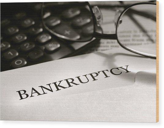 Bankruptcy Notice Letter Wood Print