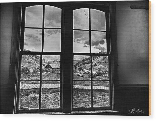 Bannack Window Wood Print