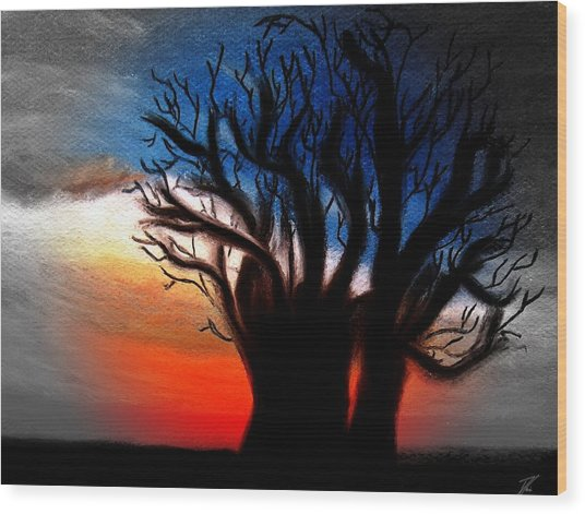 Baobab Tree 2 Wood Print