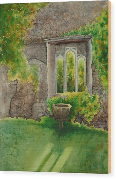 Baptistry At Lainston House  Winchester England Wood Print