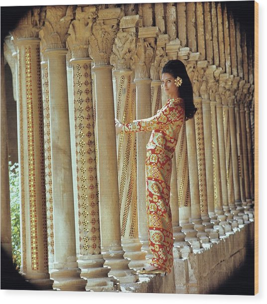 Barbara Bach In Monreale Wood Print by Henry Clarke