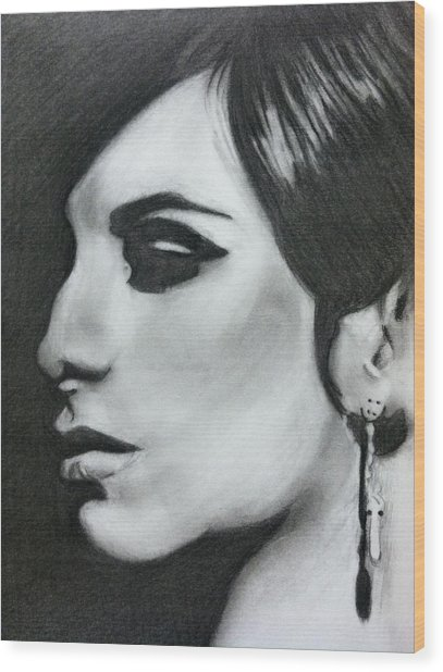 Barbara Streisand Wood Print