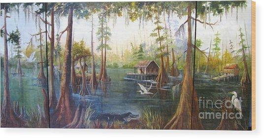 Barbaras Bayou Wood Print