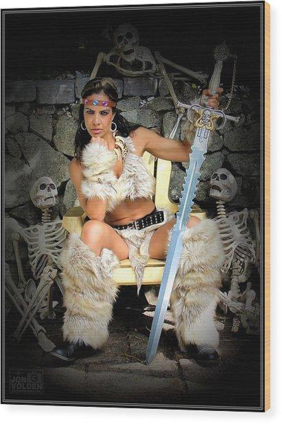 Barbarian Queen Wood Print