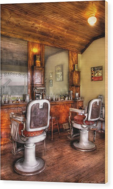 Barber - The Barber Shop II Wood Print