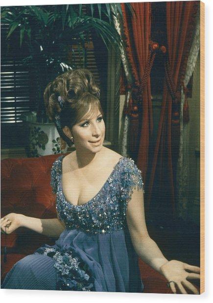 Barbra Streisand In Hello, Dolly!  Wood Print