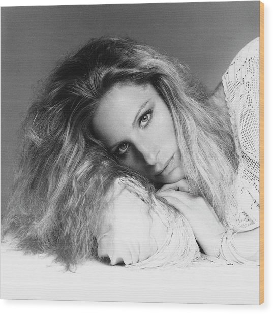 Barbra Streisand Lying Down Wood Print