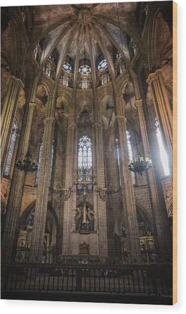 Barcelona Cathedral Interior Wood Print