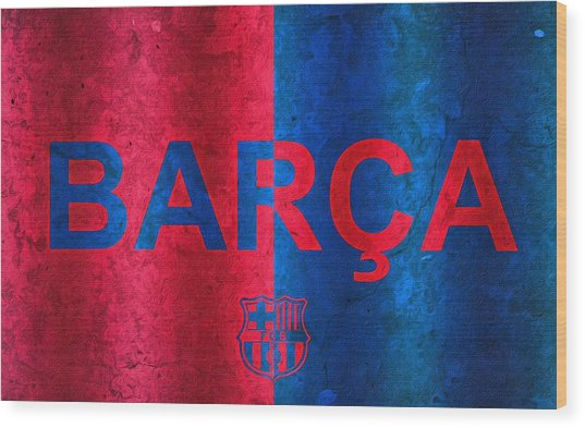 Barcelona Football Club Poster Wood Print