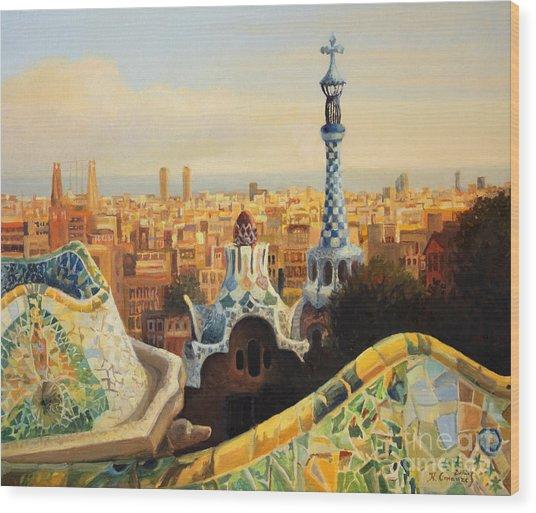 Barcelona Park Guell Wood Print