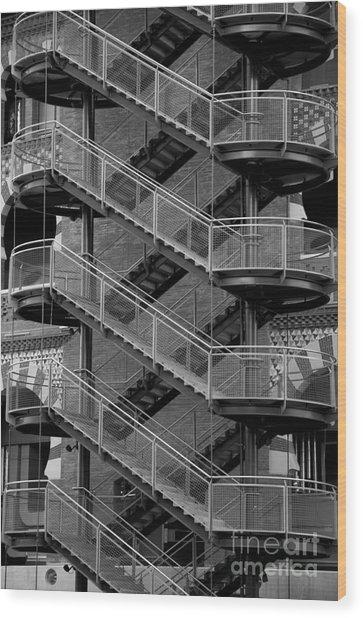 Barcelona Stairs II Wood Print