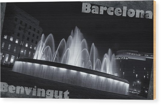 Barcelona Welcome Wood Print