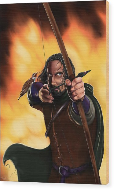 Bard The Bowman Wood Print