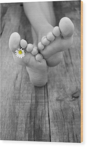 Barefoot Wood Print