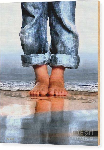 Barefoot Boy   Wood Print