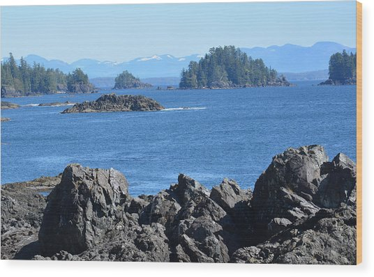 Barkley Sound And The Broken Island Group Ucluelet Bc Wood Print