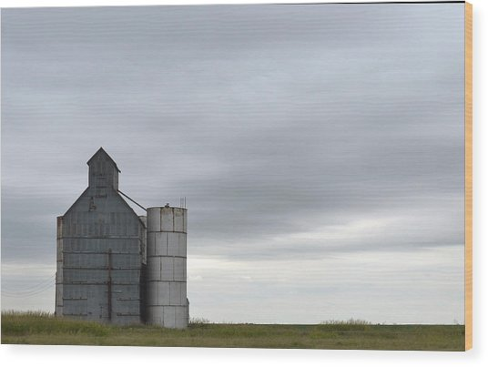 Barn Amarillo I-40 Wood Print