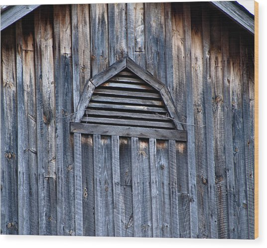 Barn And Batten Wood Print by Nickaleen Neff
