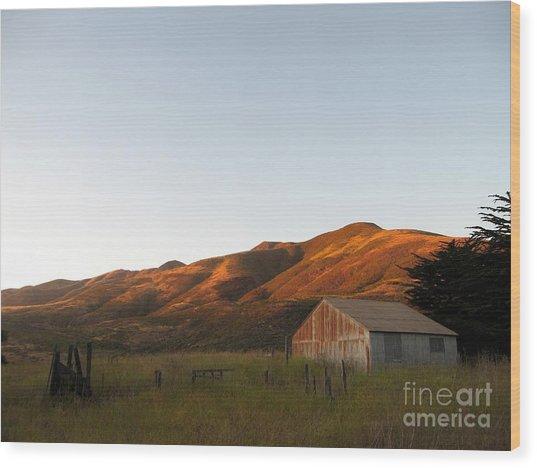 Barn At Garrapata State Park Wood Print