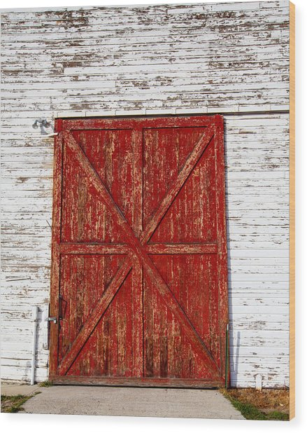 Barn Door Wood Print