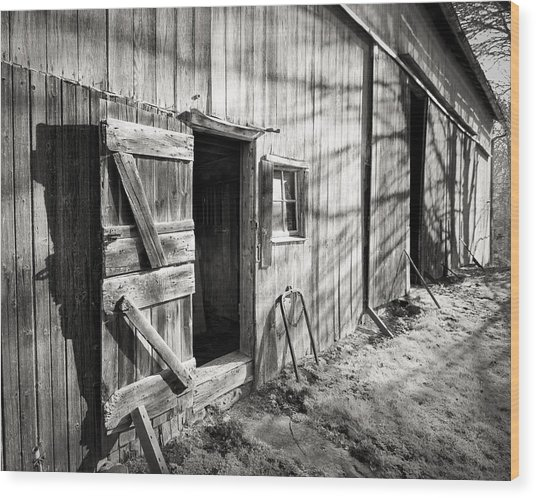 Barn Doors Wood Print
