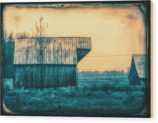 Barn Faceoff Wood Print