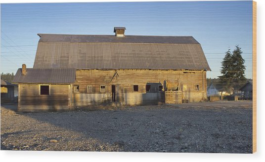Barn In Rural Washington Wood Print