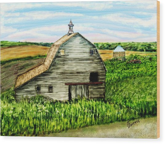 Barn Near Stanton Nebraska Wood Print