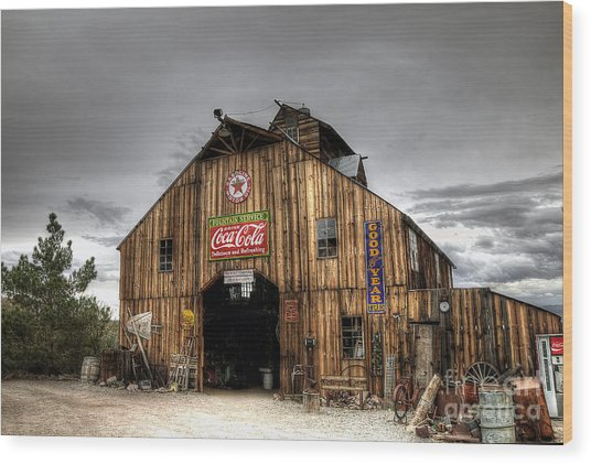 Barn Of Antiques Wood Print