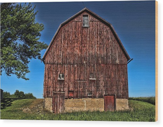 Barn On Kennedy Road Webster Ny Wood Print