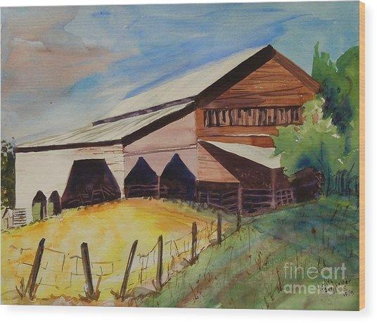 Barn On Rt. 42 Wood Print by Judith Espinoza