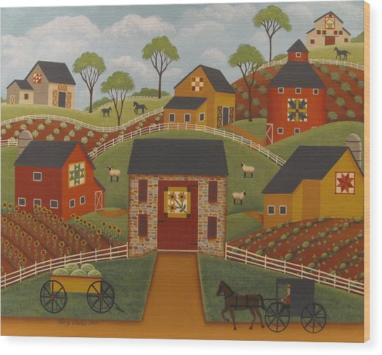 Barn Quilts Wood Print