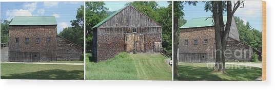 Barn Triptych Wood Print