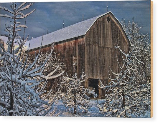Barn Webster Ny Wood Print