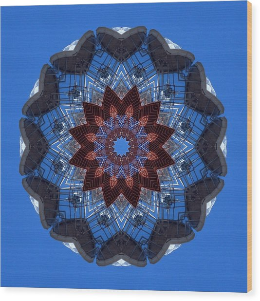 Barnegat Lighthouse Mandala Wood Print