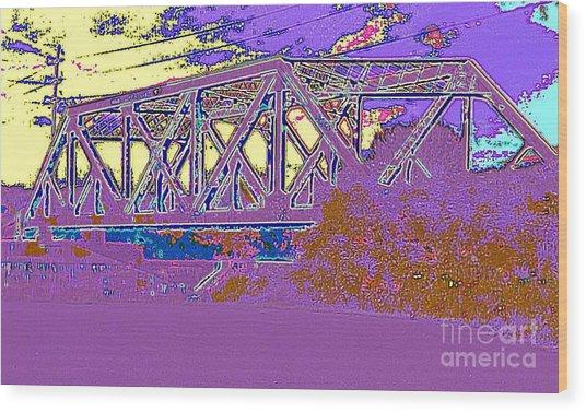 Barnes Ave Erie Canal Bridge Wood Print
