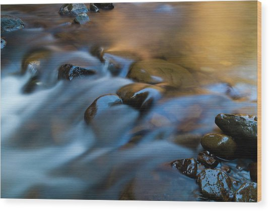 Barnes Creek, Olympic National Park Wood Print