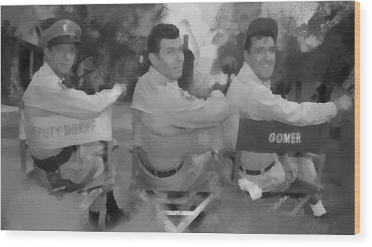 Barney Andy And Gomer Wood Print